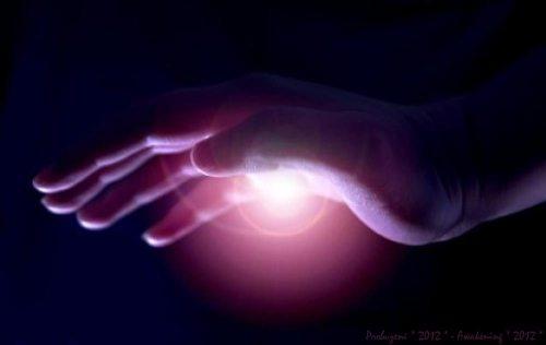 energy healing hand